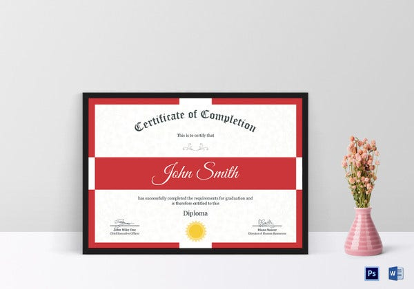 printable diploma certificate template psd download1
