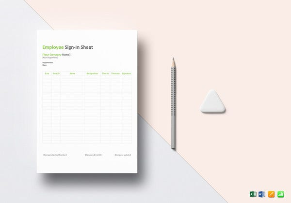 printable employee sign in sheet template1