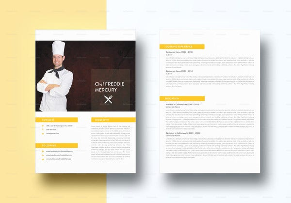 13  chef resume templates