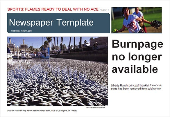 printable free newspaper template