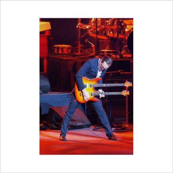 printable joe bonamassa concert poster template for 43