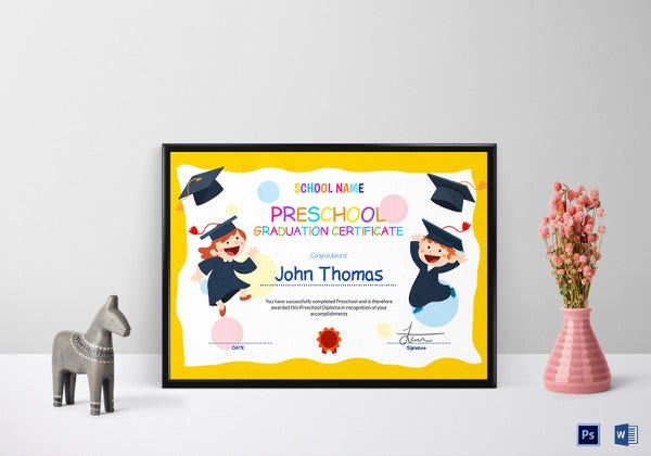 printable preschool graduation certificate template