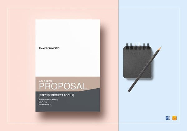 printable technical proposal template