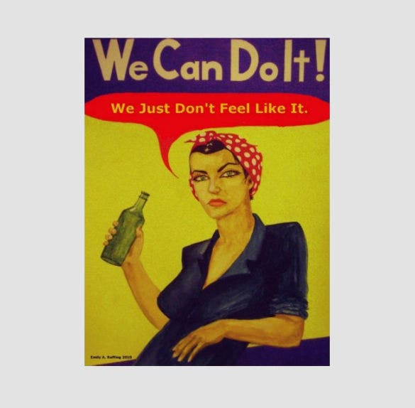 printable we can do it poster