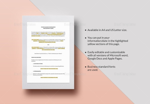 Memorandum Templates  Free Word Pdf Documents Download  Free