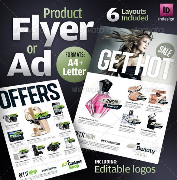 product flyer template photoshop
