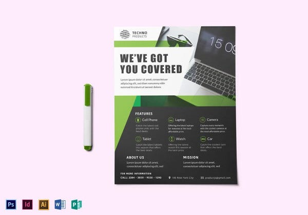 product promotion flyer template