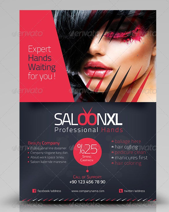 Professional Beauty Saloon Flyer Design