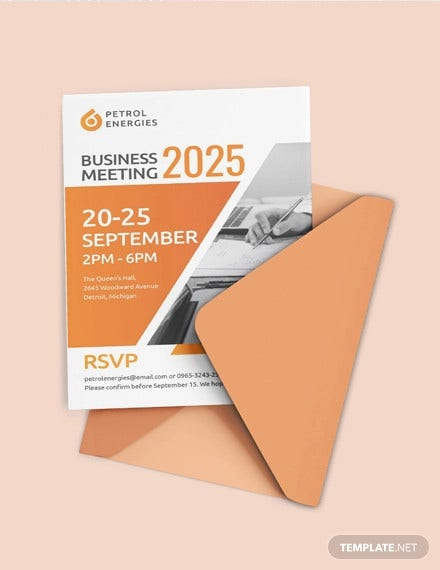 professional business meeting invitation template2