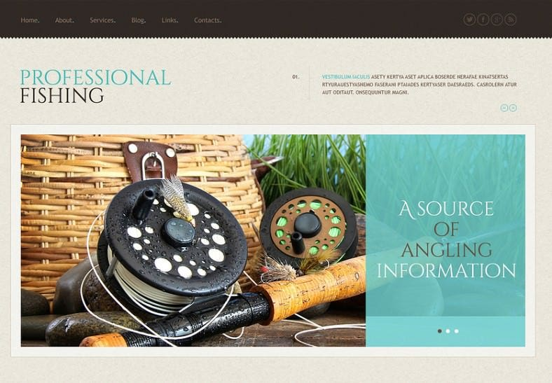 Professional Fishing Responsive WordPress Theme