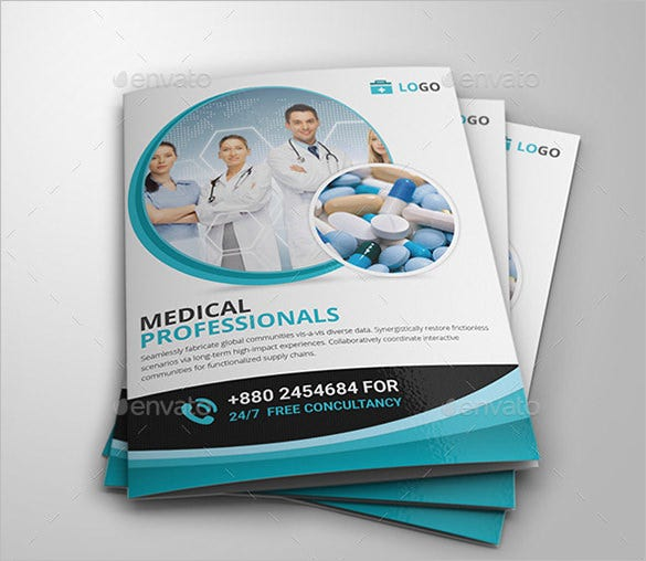 professional medical bi fold brochure template