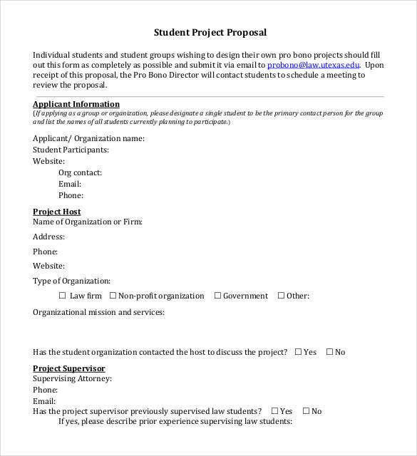 Project Proposal Sample For Student PDF