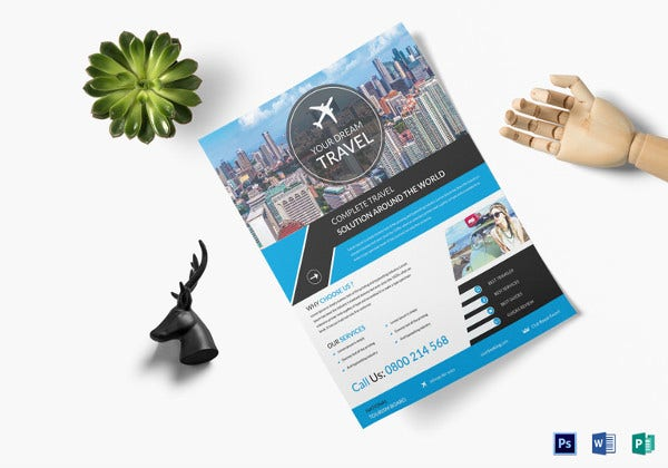 promotion travel flyer template