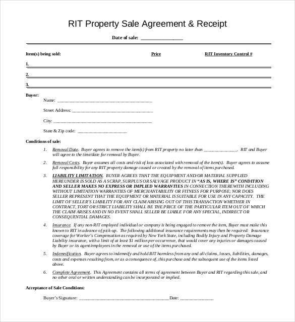 property-sale-agreement-receipt