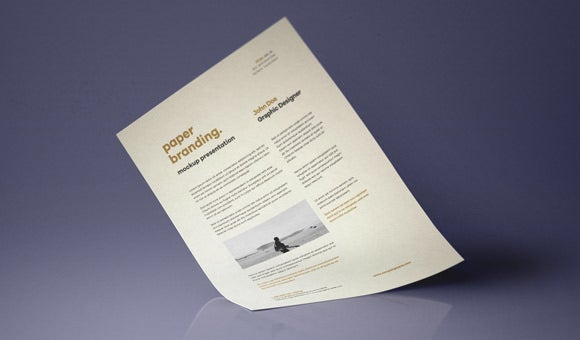 psd a4 paper mock up template design