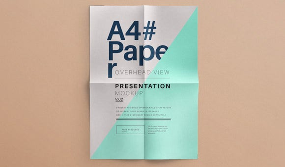 psd a4 paper mock up vol2