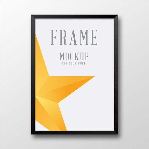 pure design poster frame psd mockup template
