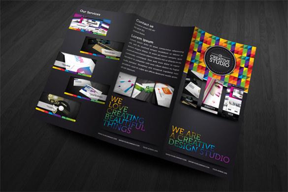 rw creative colourful brochure template
