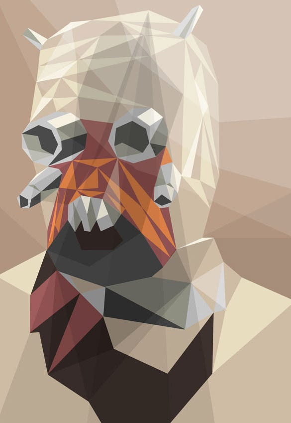 raider stunning geometric illustration