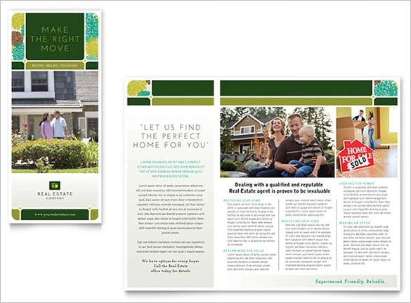 real estate brochure template for 99