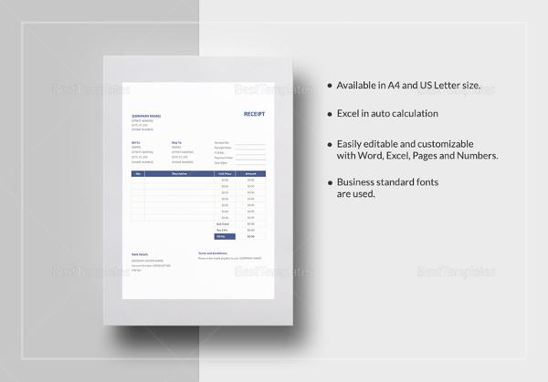 receipt-format-template