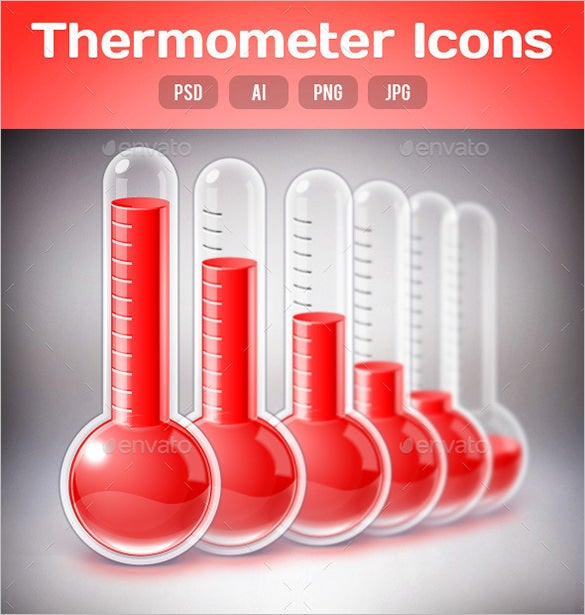 red colour photoshop thermometer template 2