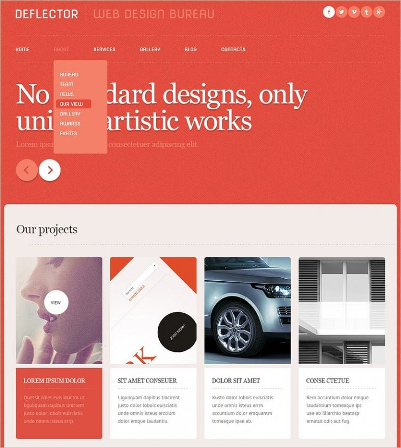 red web design studio wordpress theme 788x881