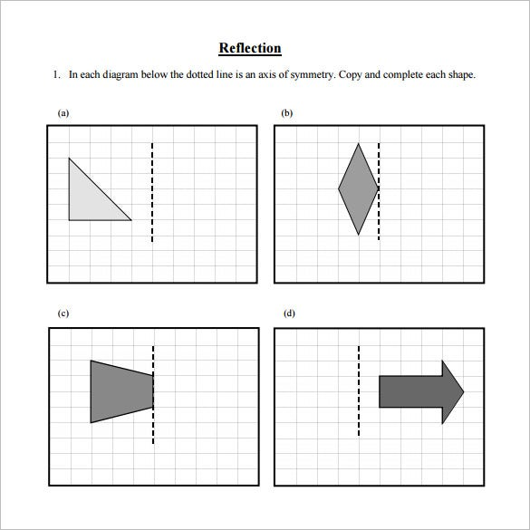 7 Reflective Symmetry Worksheet Templates Free Word PDF – Reflections Worksheet