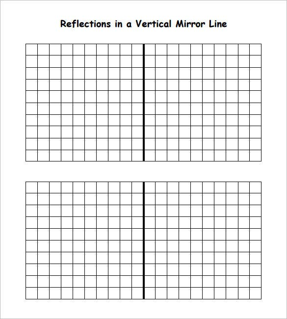 reflections in a vertical mirror line reflective symmetry