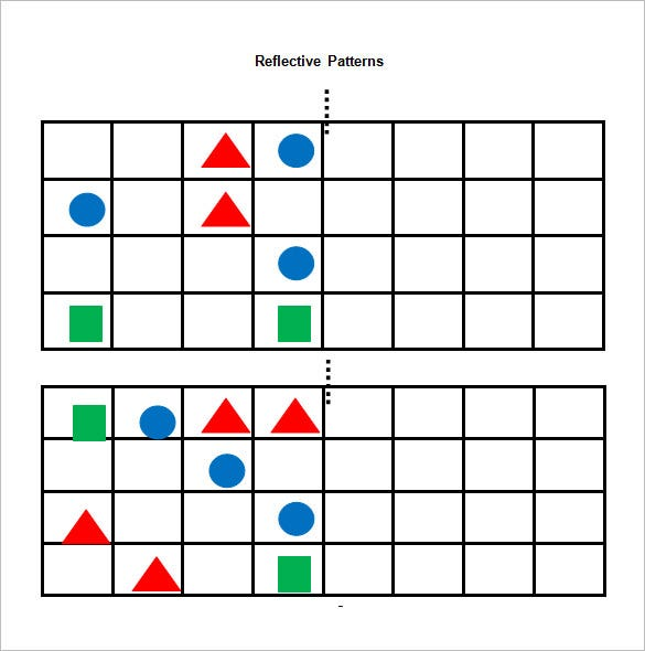 reflective patterns reflective symmetry worksheets