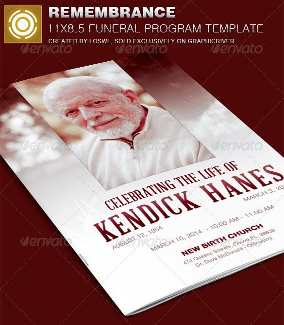 remembrance psd obituary template