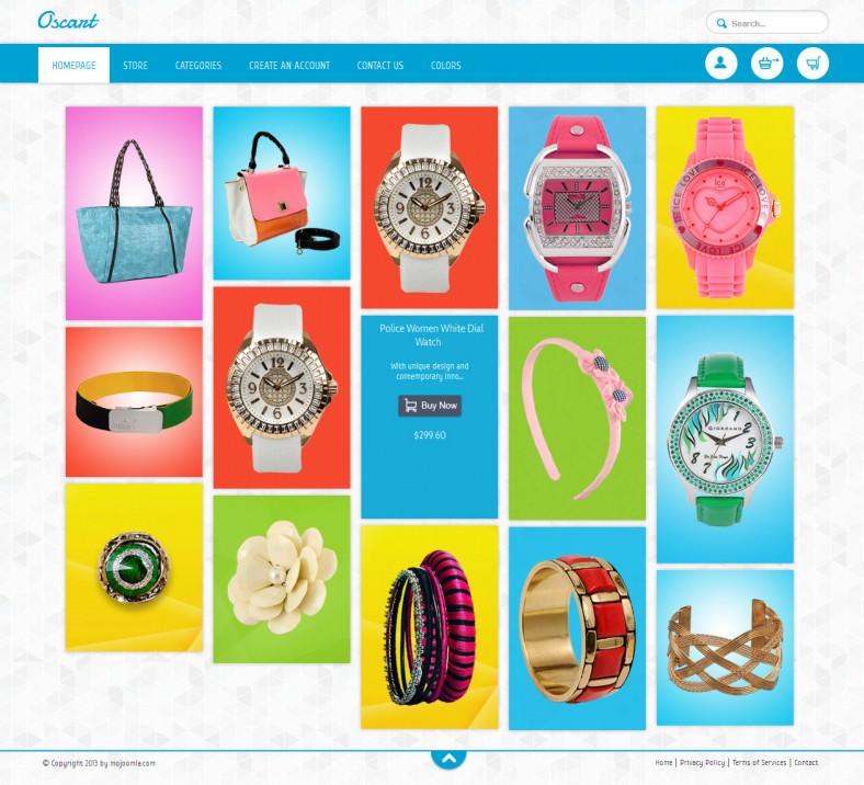 Responsive HTML5 OsCommerce template