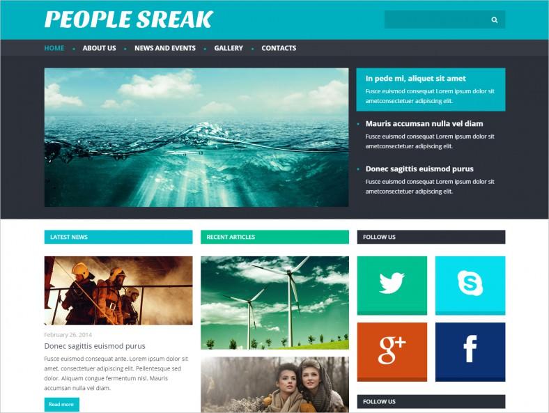 Responsive News Portal Joomla Template