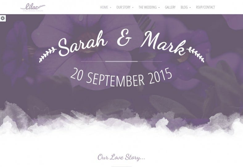 responsive one page html5 wedding template 788x542