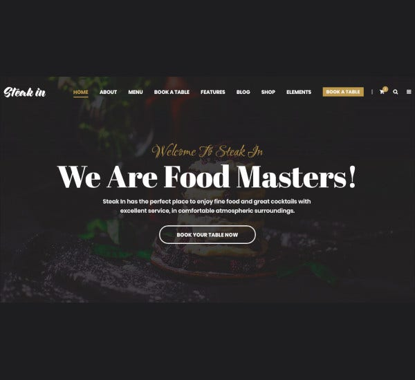 restaurant cafe html5 template