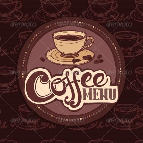 restaurant sketch cafe menu template