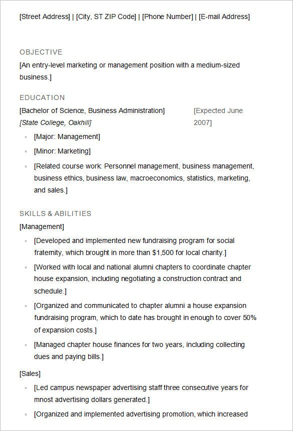 Recent College Graduate Cover Letter Business Insider