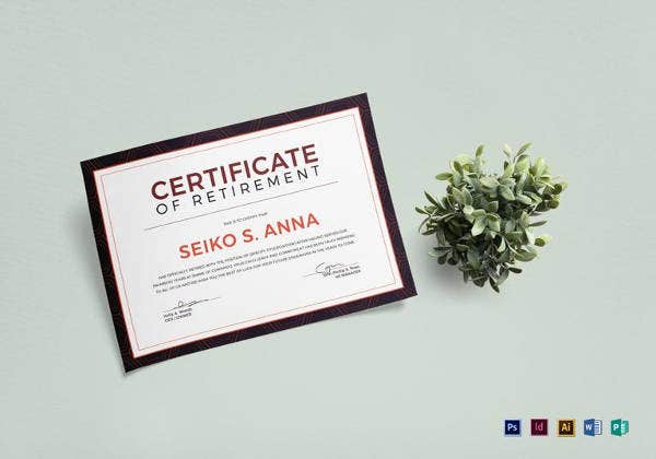 10 retirement certificate templates free pdf format download retirement certificate template yadclub Gallery
