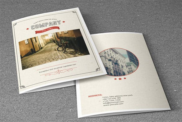 retro style corporate brochure