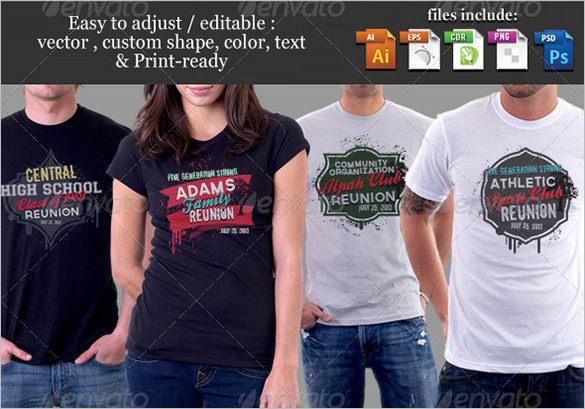 68bd3c1a542 reunion t shirt template psd