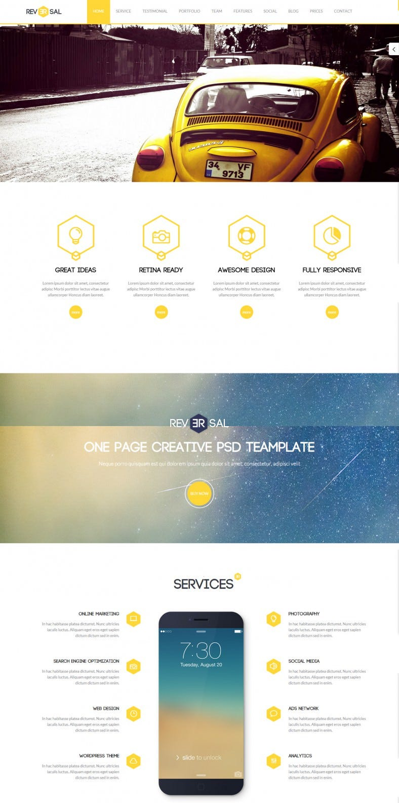 Slide Parallax Video Background One Page Joomla Template  Free Demo Download