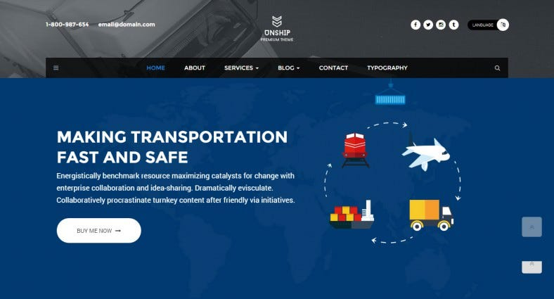 revolution slider html5 theme for transport 788x425