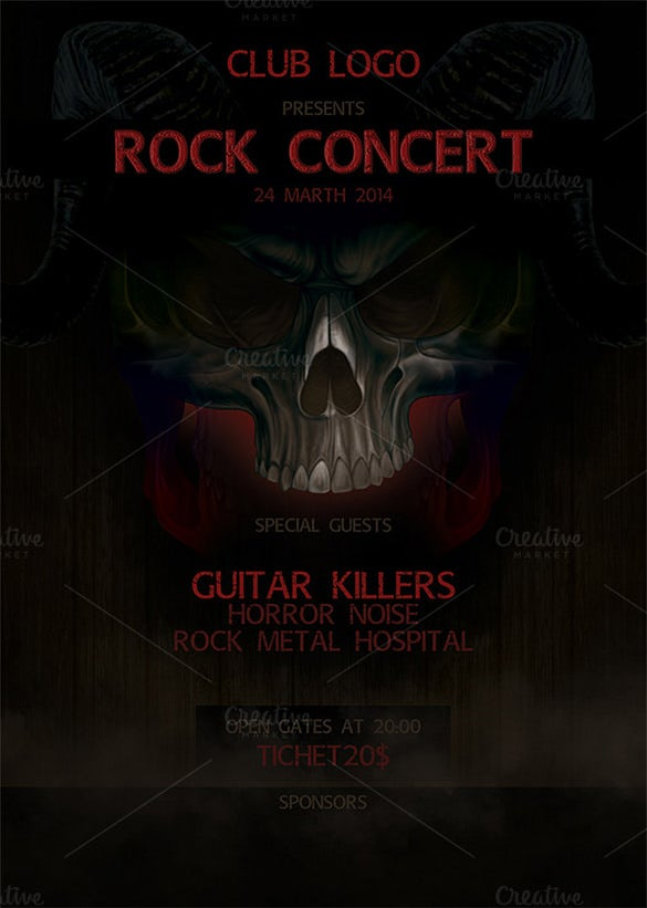rock concert psd poster 6 download