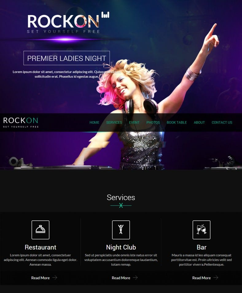 rockon responsive html template 788x953