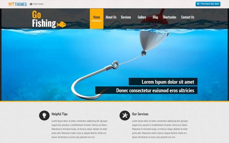 SEO Friendly WordPress Theme for Fishing