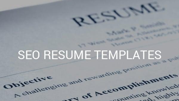 seo resume templates