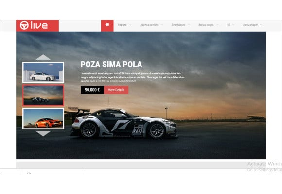 sj live responsive classified joomla template