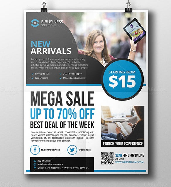 sale products corporate flyer template