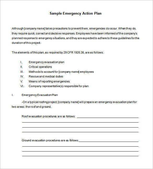 Emergency Action Plan Template On Emergency Action Plan Template ...