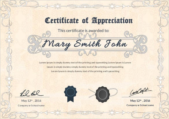sample-appreciation-certificate